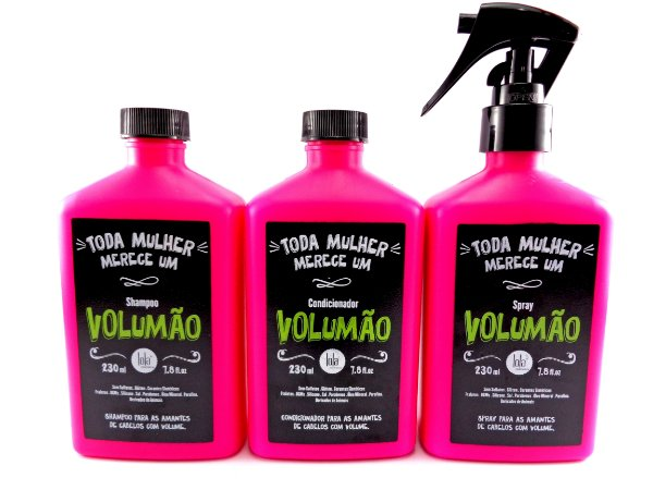 Lola Cosmetics - Volumão Kit Shampoo, Condicionador e Spray 230ml cada