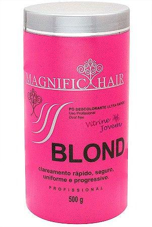 Magnific Hair - Blond Pó Descolorante Ultra Rápido (Rosa) Cabelos Frágeis