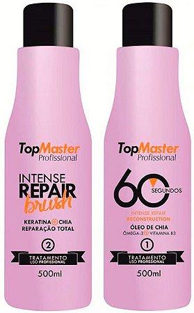 Top Master - Intense Repair Kit Reconstrutor 60 segundos e Reparação Brush (2 Passos)
