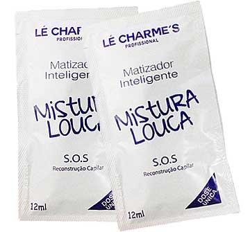 Lé Charme's - Mistura Louca 2 Sachês Matizador Inteligente SOS Reconstrução Capilar 12ml