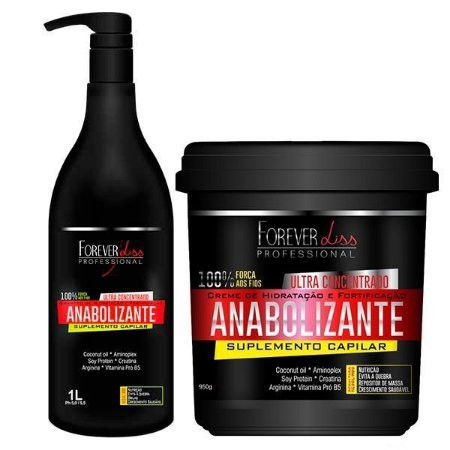 Forever Liss - Fortificante Capilar Kit Shampoo 1L e Máscara Ultra Concentrada 950g