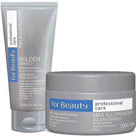 For Beauty - Golden Perfect Kit Shampoo e Máscara Matizadora