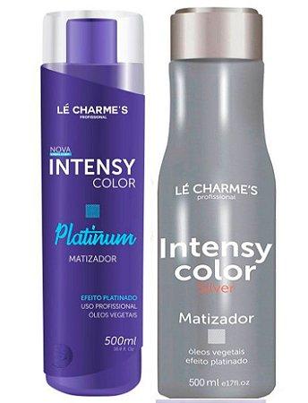 Lé Charme's - Intensy Color Kit Roxo + Prata Máscaras Matizadoras 500ml