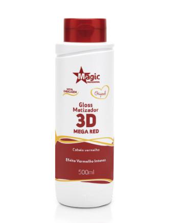 Magic Color - Gloss Matizador 3D Mega Red Cabelos Vermelhos 500ml NOVA EMBALAGEM