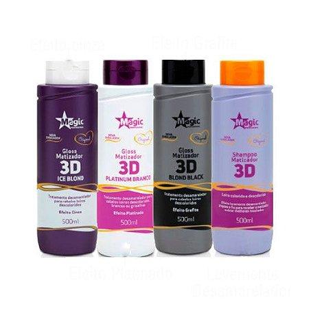 Magic Color - Kit Gloss 3D Shampoo e Matizadores 500ml cada - NOVA EMBALAGEM