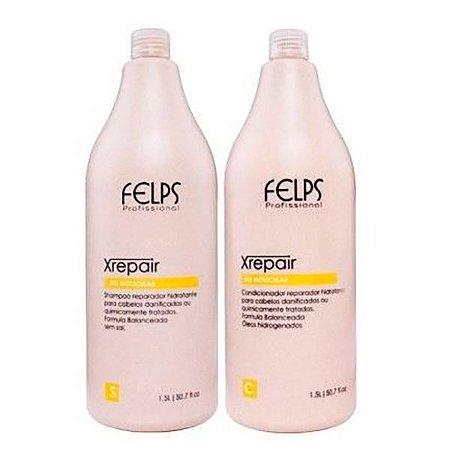 Felps - Xrepair Kit Profissional Shampoo e Condicionador e Bio Molecular 1,5L cada