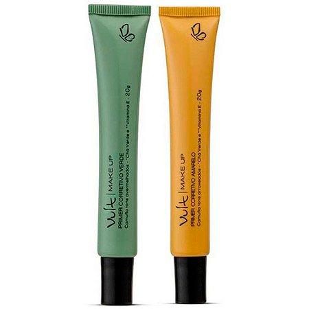 Vult - Primer Corretivo Facial Kit Amarelo e Verde 20g cada