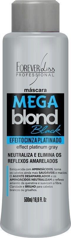 Forever Liss - Mega Blond Black Máscara Matizadora Efeito Cinza Platinado 500ml
