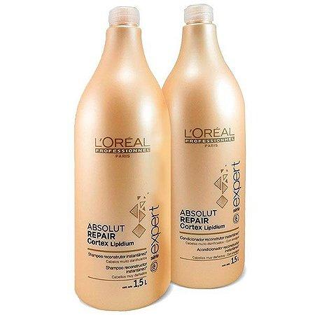 L'Oréal - Absolut Repair Cortex Lipidium Kit Shampoo e Condicionador 1.5L cada Série Expert