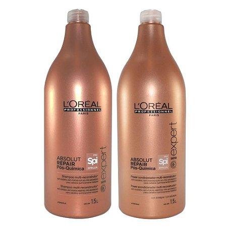 L'Oréal - Absolut Repair Pós Química PRO Spirulin Kit Shampoo e Condicionador 1.5L cada Série Expert