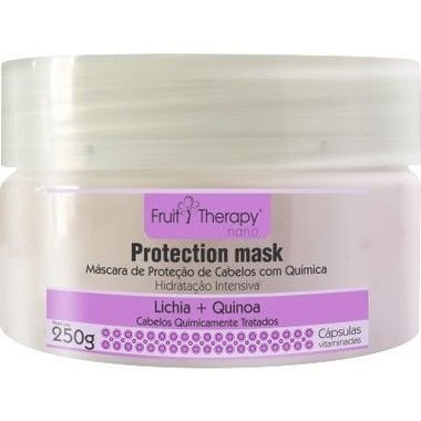 Left - Fruit Therapy Nano Lichia Máscara Cabelos Quimicamente Tratados 250 g