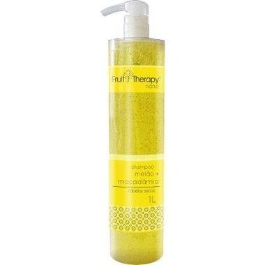 Left - Fruit Therapy Nano Melão Shampoo Cabelos Secos 1000 ml