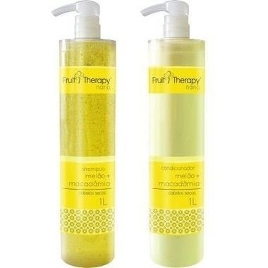 Left - Fruit Therapy Nano Melão Kit (Shampoo + Condicionador) Cabelos Secos 2x1000ml