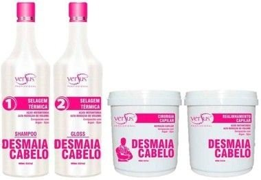 Versus Professional - Kit Desmaia Cabelo ( Escova Progressiva 1l + Realinhamento Capilar 1kg + Cirurgia Capilar 1kg)