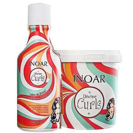 Inoar - Divine Curls Kit Shampoo 250ml e Máscara Ativadora para cachos 450g