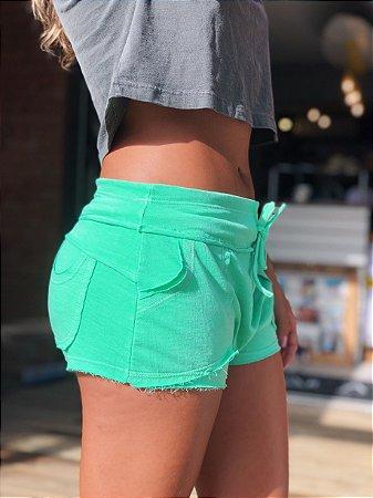Shorts moletom verde neon