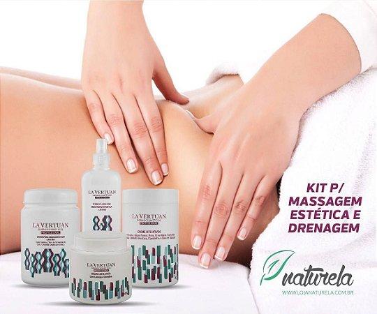 Kit Profissional p/ Massagem Estética e Drenagem Linfática