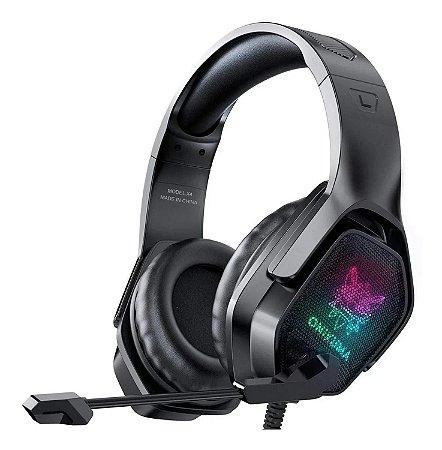 HEADSET GAMER PROFISSIONAL COM LED ONIKUMA X4