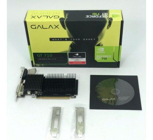 PLACA DE VIDEO GEFORCE GT710 GDDR3 1GB GALAX
