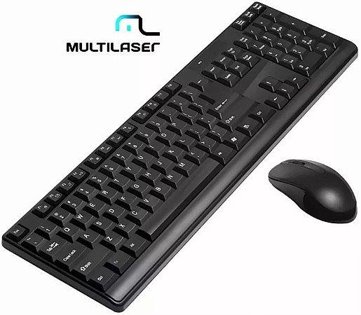 KIT MOUSE E TECLADO S/FIO USB MULTILASER TC162