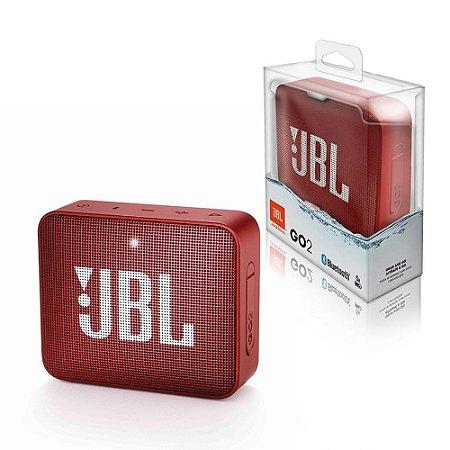 CAIXA DE SOM BLUETOOTH JBL GO 2 ORIGINAL VERMELHO