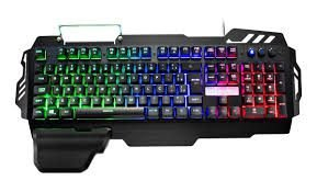 Teclado Gamer Warrior Zuberi Superfície Metal LED - TC210