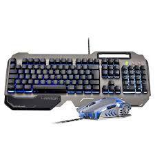 Combo Teclado E Mouse Gamer Superfície Em Metal Warrior - TC223