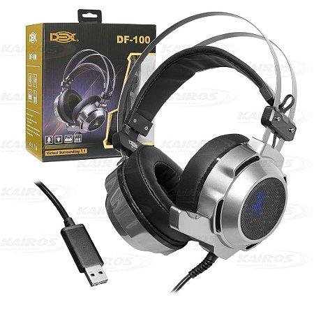 HEADSET GAMER USB DEX DF-100