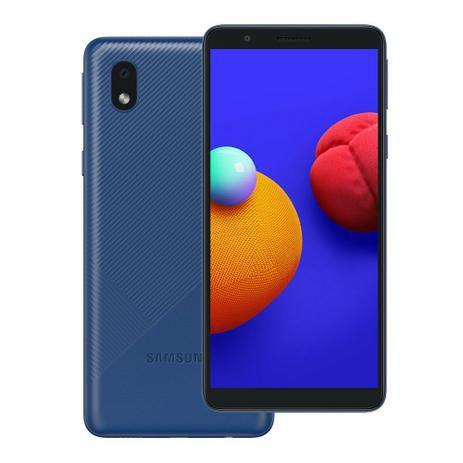 "Smartphone Samsung Galaxy A01 Core 32GB 2GB RAM Tela Infinita de 5.3"" Azul"