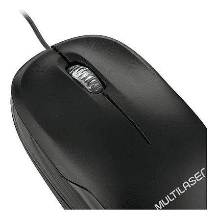 MINI MOUSE USB PRETO MULTILASER MO255