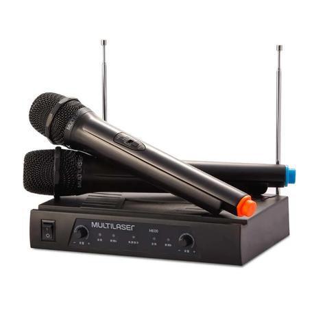 MICROFONE SEM FIO RECEIVER VHF MULTILASER SP328