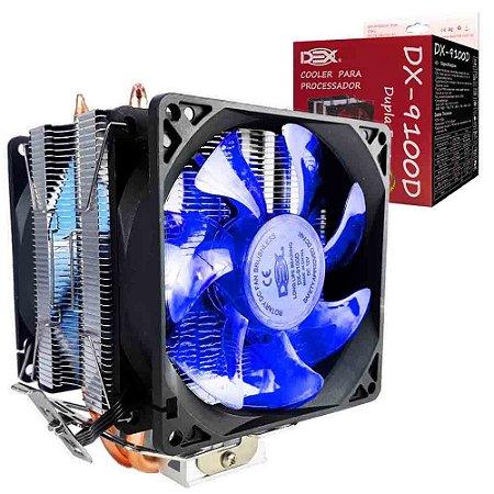 COOLER LED AZUL INTEL/AMD DUPLO FAN DX-9100D