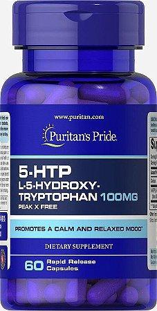 5-HTP 100 mg - Puritan´s Pride - 60 cápsulas de Liberação Rápida