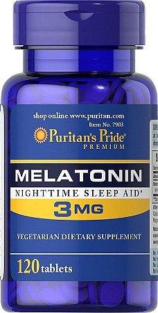 Melatonina 3 mg - Puritans Pride - 120 tablets