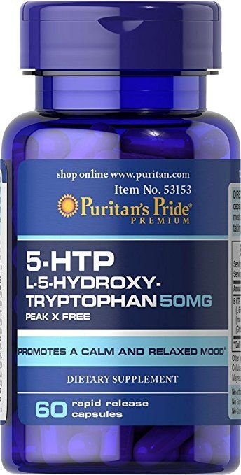 5-HTP 50 mg - Puritan´s Pride - 60 cápsulas de Liberação Rápida