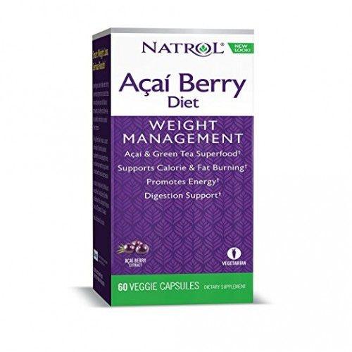Açai Berry Diet - Natrol - 60 Cápsulas vegetarianas