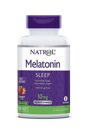 Comprar Melatonina 10 mg Fast Dissolve sublingual sabor Morango - Natrol - 100 comprimidos