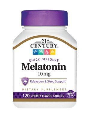 Comprar melatonina 10 mg sublingual sabor cereja - 21 ST Century - 120 tablets
