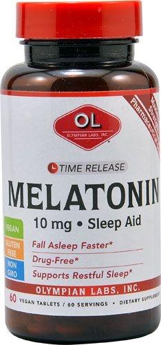 Comprar Melatonina 10 mg TR - Olimpian Labs - Liberação Gradual - 60 Tablets (hormônio do sono)