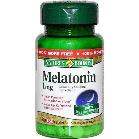 Comprar Melatonina 1 mg - Nature´s Bounty - 180 comprimidos (hormônio do sono)