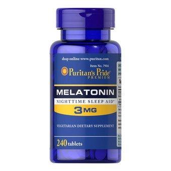 Comprar Melatonina 3 mg - Puritans Pride - 240 tablets (hormônio do sono)