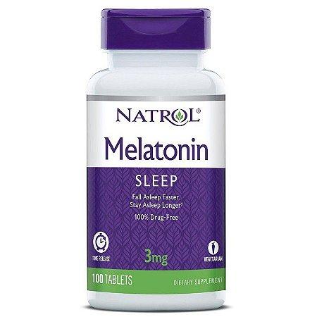 Comprar melatonina 3 mg Liberação Gradual -  Natrol - 100 comprimidos - hormonio do sono