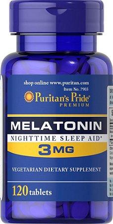 Comprar Melatonina 3 mg Puritans Pride 120 tablets (hormônio do sono)