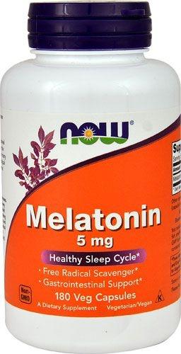 Comprar Melatonina 5 mg - Now Foods - 180 Cápsulas (hormônio do sono)