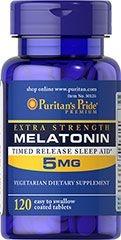 Comprar Melatonina 5 mg - Puritan's Pride - liberação gradual - 120 comprimidos (hormônio do sono)
