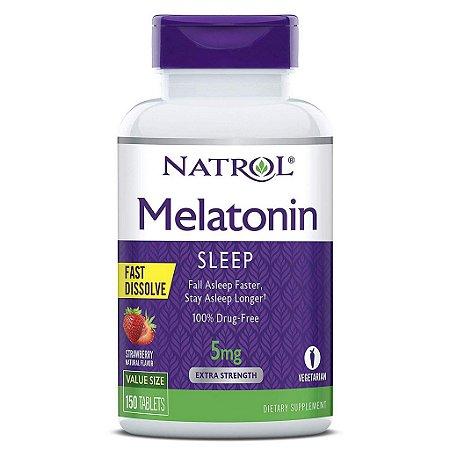 Comprar Melatonina 5 mg Fast Dissolve sublingual Sabor Morango - Natrol - 150 comprimidos