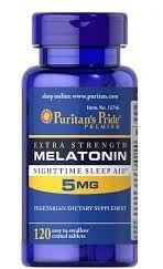 Comprar Melatonina 5 mg Força Extra - Puritans Pride 120 tablets (hormônio do sono)