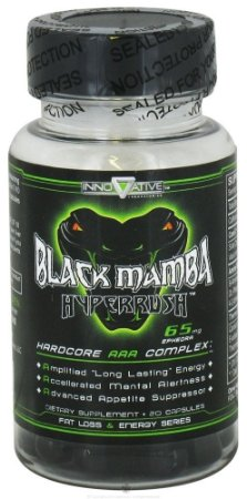 Black Mamba Hyperrush - Innovative Labs -Termogênico Poderoso - 90 Cápsulas
