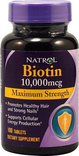 Biotina 10000 mcg  Força Máxima - Natrol - 100 Tabletes