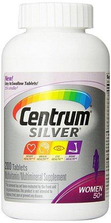 Centrum Silver 50+ WOMEN - 200 tabletes - Ideal para Mulheres com 50 anos ou mais  - FRETE GRÁTIS